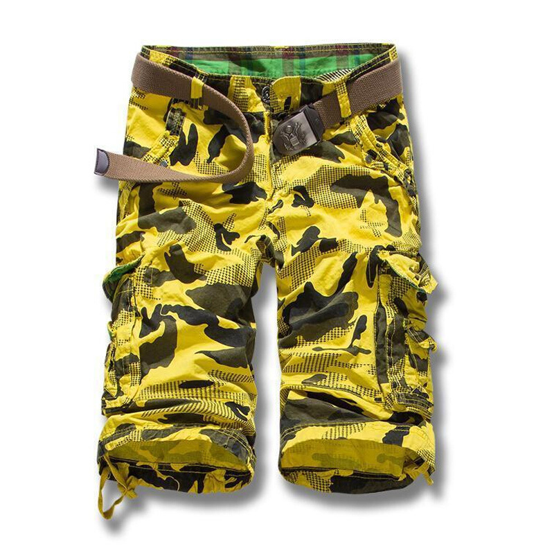 2015 spring summer men's casual camouflage loose cargo shorts men large size military short pants overalls belt - Abigale International Trade Co., Ltd. store