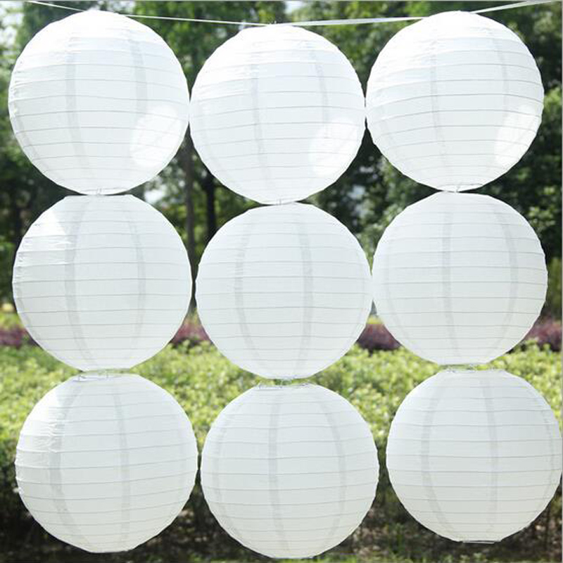 Wholesale - (10pcs/lot) 4''(10cm)Free shipping Chinese paper lantern lamp festival&wedding decoration white wedding lantern