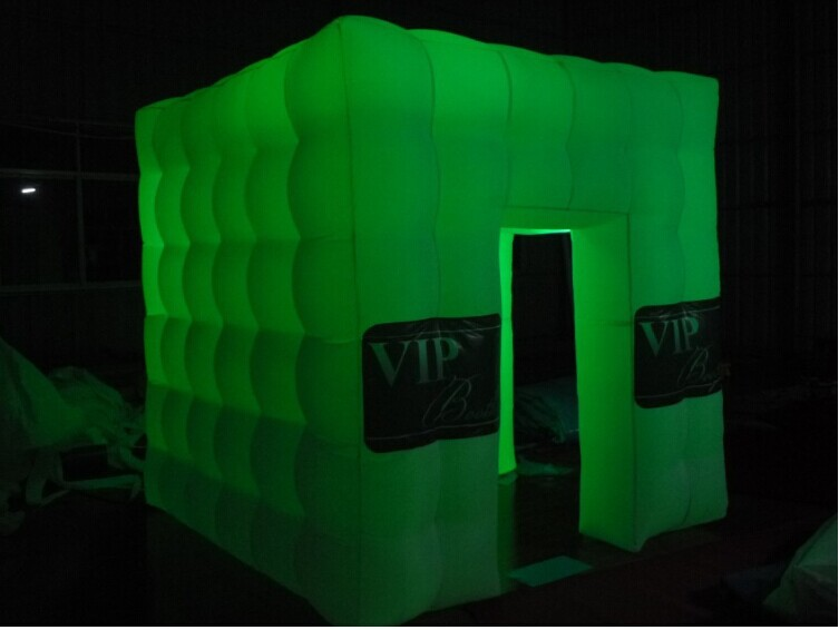 free shipping customized popular oxford material led lights sale photo booth(China (Mainland))