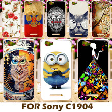 Buy DIY Painting design Hard Plastic Case Sony Xperia M Dual C1904 C2005 4.0 inch C1905 C2004 Cell Phone Cover Protective Shell for $1.46 in AliExpress store