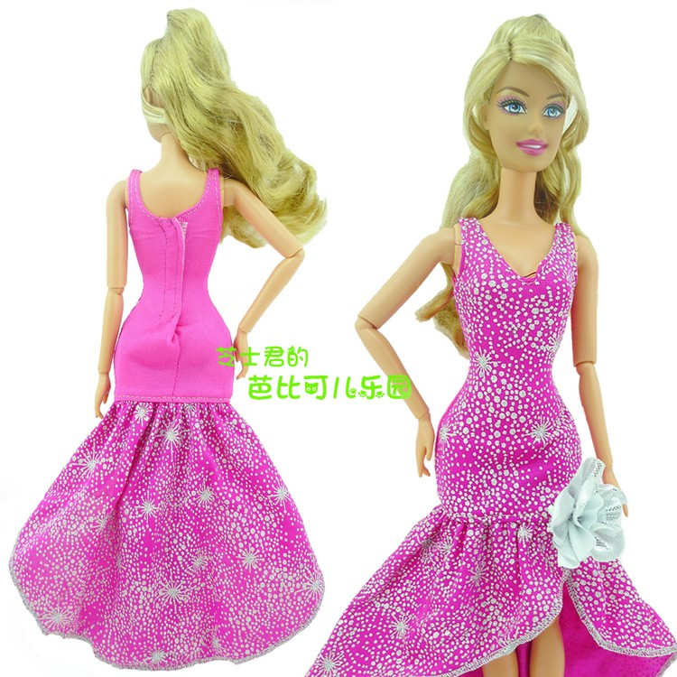 2016 New Authentic Doll Garments Stunning Handmade Get together Outfit Style Gown For Barbie Doll, Child Toys Ladies Present Doll Gown