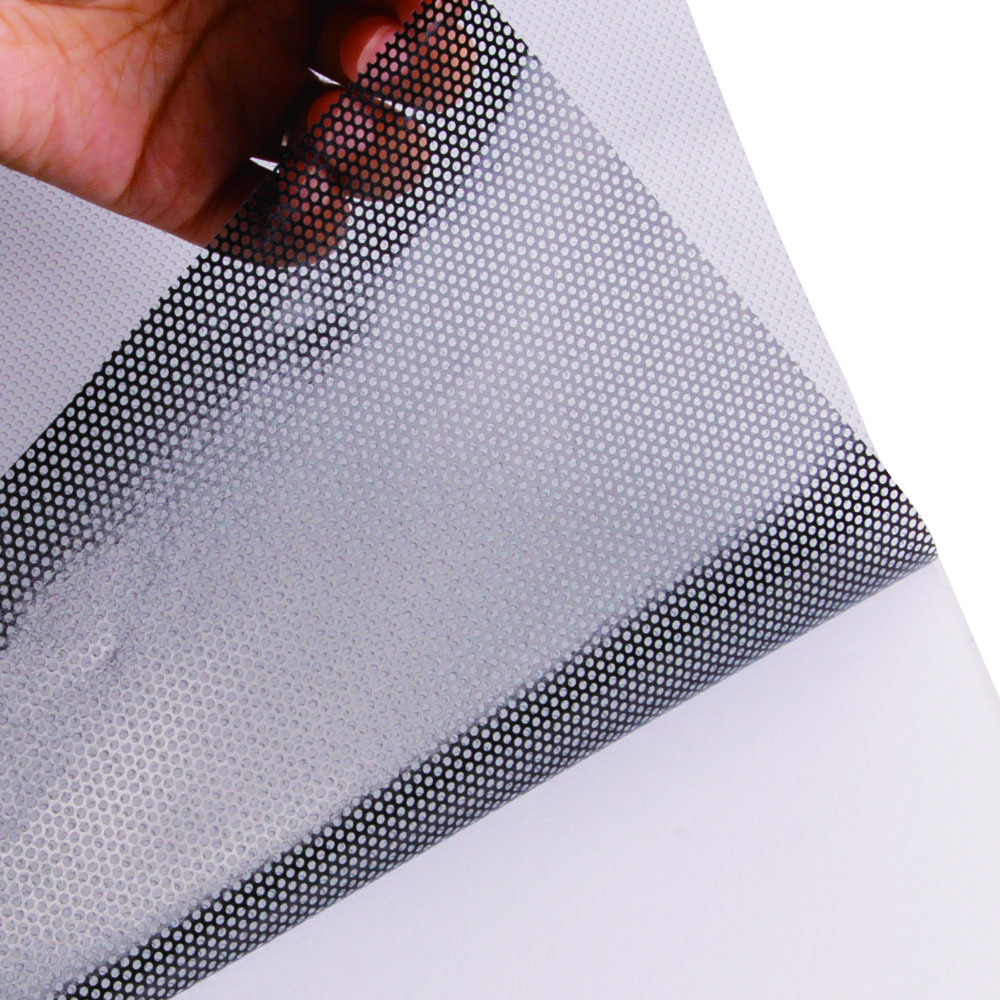 Printable One-Way Perforated Vinyl Privacy Window Film Adhesive Glass Wrap Sheet 1.37mx15m (54inx50ft) Roll(China (Mainland))