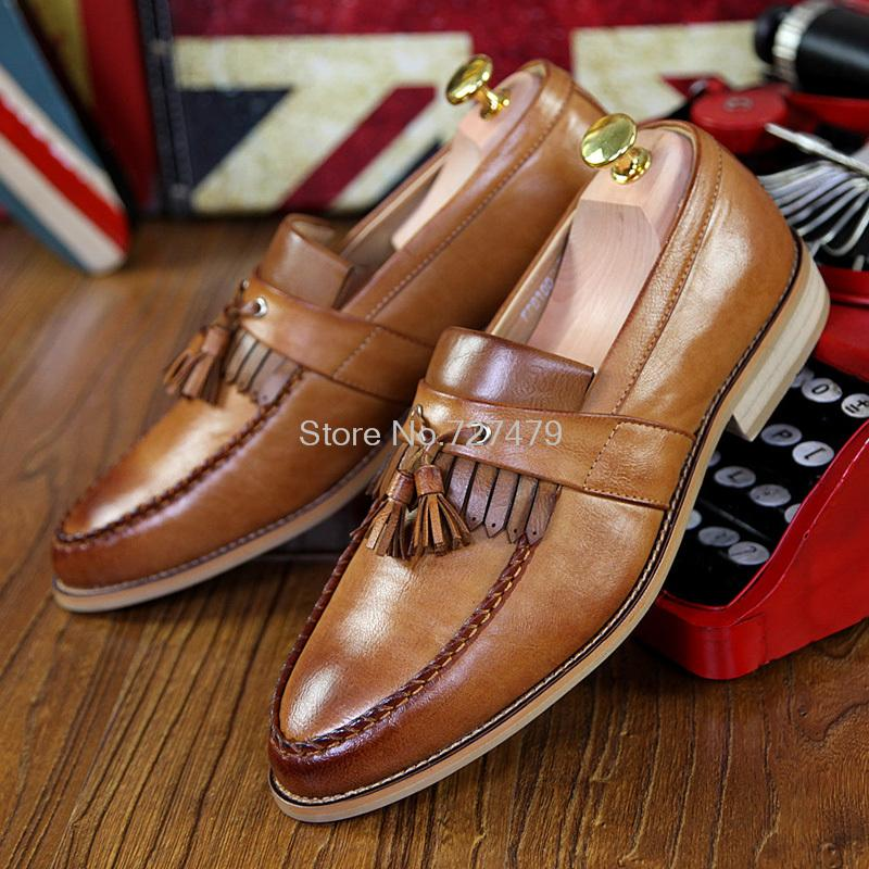 Factory Wholesale Top Fashion Oxford Shoes Retro England Carved Tassels Men Shoes Business Leather Shoes #C022(China (Mainland))