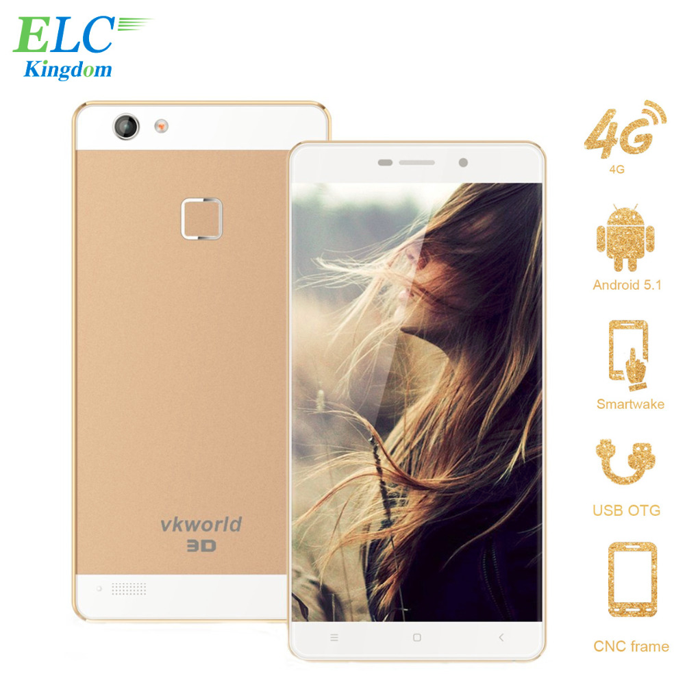 Original VKworld Discovery S2 LCD Mobile Phone 2GB+16GB Quad Core 5MP+13MP 5.5'' FHD Smartphone 2.5D Corning 4G LTE Naked-eye 3D(China (Mainland))