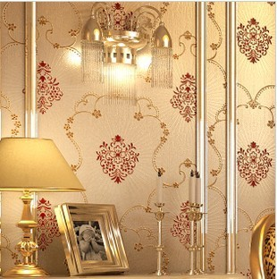 Wallpaper papel parede European PVC  bedroom living room wall carving deep embossed  shipping