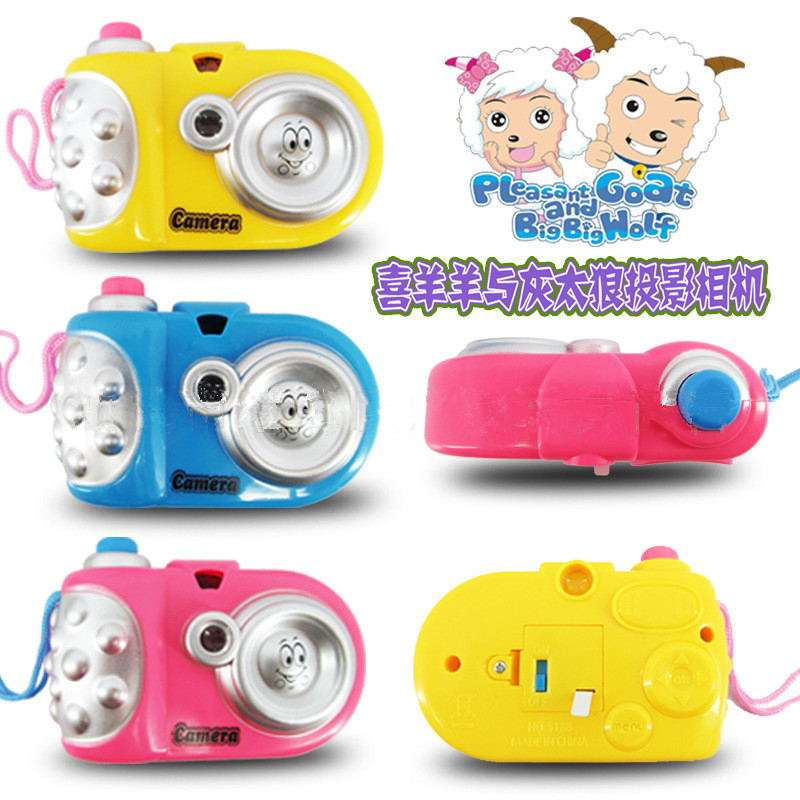 2016 Hot Sale Cute Cartoon Light Projection Child camera Kids Best Present Free Shiping(China (Mainland))