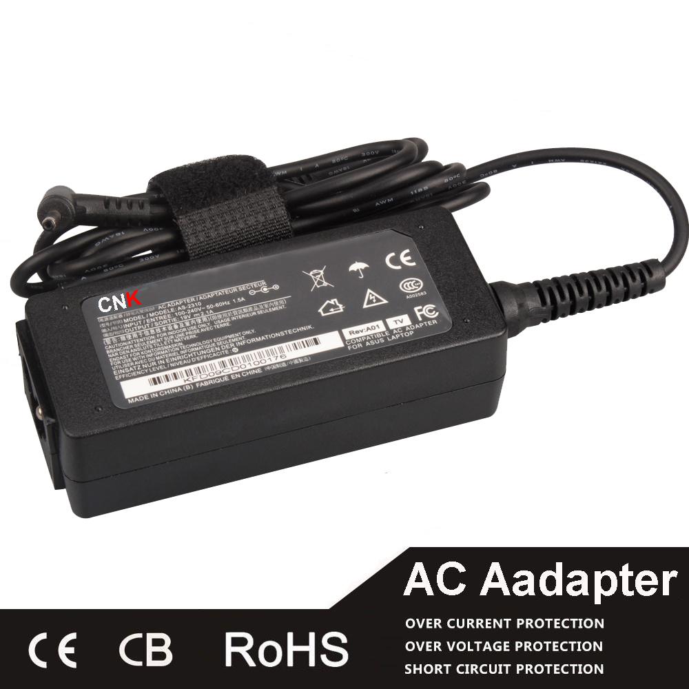 40W Mini Ac Adapter For Asus 19V 2.1A Eee PC 1001P 1005HA 1005HA-E AD6630 EXA0901XH ADP-40PH 1005HA-A 1005HAB(China (Mainland))