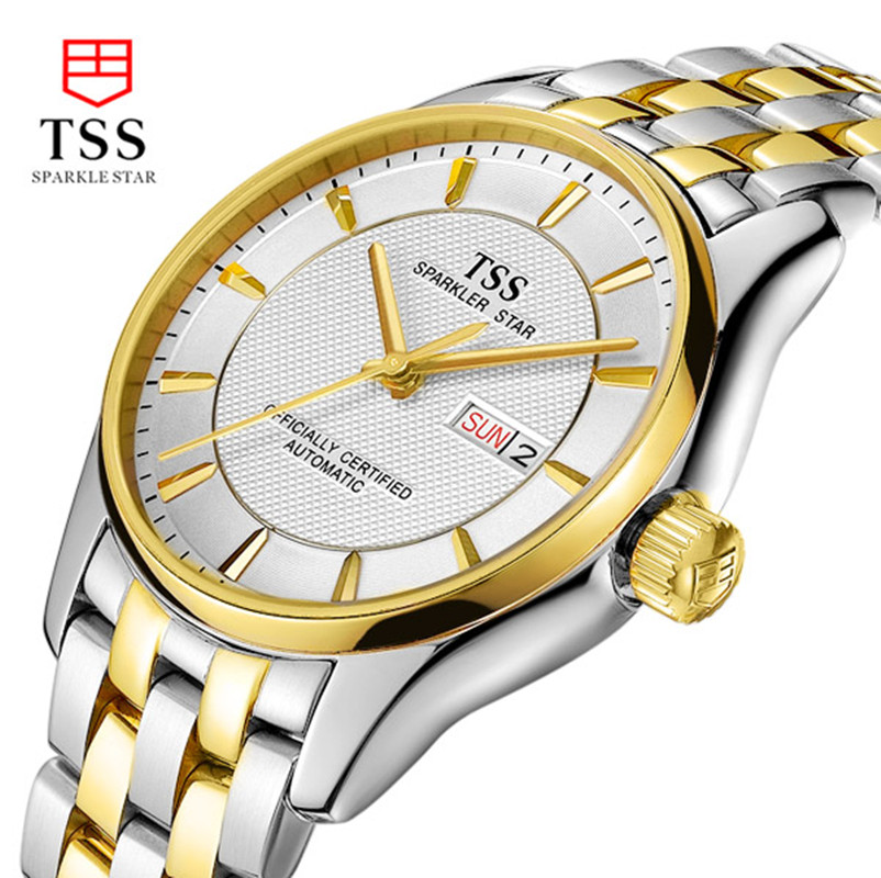 Tss fully-automatic mechanical watches male waterproof cutout commercial mens watch<br><br>Aliexpress