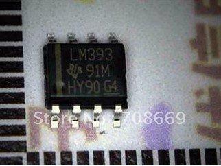 10pcs SMD LM393D LM393 Open Collector LOW POWER DUAL VOLTAGE COMPARATORS SOP-8