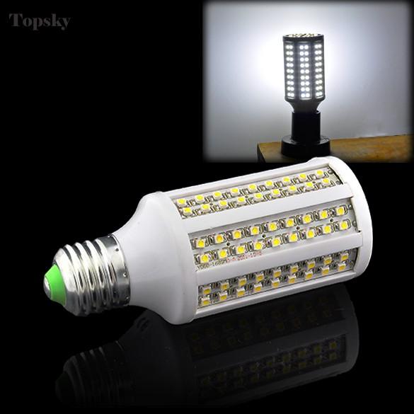 9W 840LM Lampada Led Bulb E27 168 LEDs SMD 3528 100V-120V Corn Led Lights Cold White Led Lamp E27 ZDD(China (Mainland))
