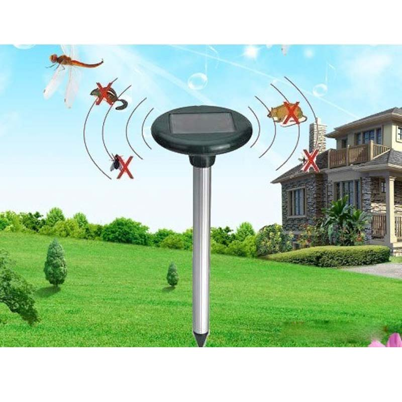 pest control reject solar pest repeller Solar Powered Ultrasonic electronic Rodent mosquito Mouse Rat Pest Repeller repelling(China (Mainland))