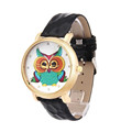 Fashion Owl Shoes Pattern Leather Band Analog Quartz Vogue Watches elogio masculino feminino gift Nov29