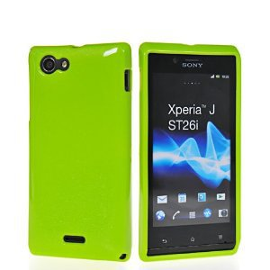 GLITTER SOFT GEL TPU SILICONE SKIN CASE COVER FOR SONY XPERIA J ST26I - huang cong's store