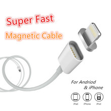 Super Fast 2.4A Magnetic Cable Micro Usb Cable for iPhone Cable Magnetic Micro Usb Cable For iPhone 6/Samsung/HUAWEI/HTC/ZTE/LG