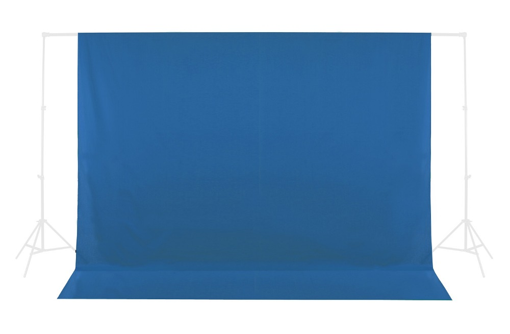 Photo Studio Blue 10ft x 20ft 3m x 6m Solid Muslin Backdrop For Photo Photography Backdrop Background Support<br>