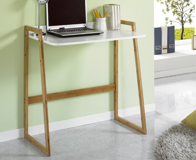 Residential wood laptop desk office furniture minimalist - Ikea small spaces ideas minimalist ...