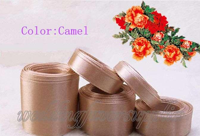 100 y voiture de mariage dcoration faveurs 38 mm camel simple face ruban de satin - Location De Chameau Pour Mariage