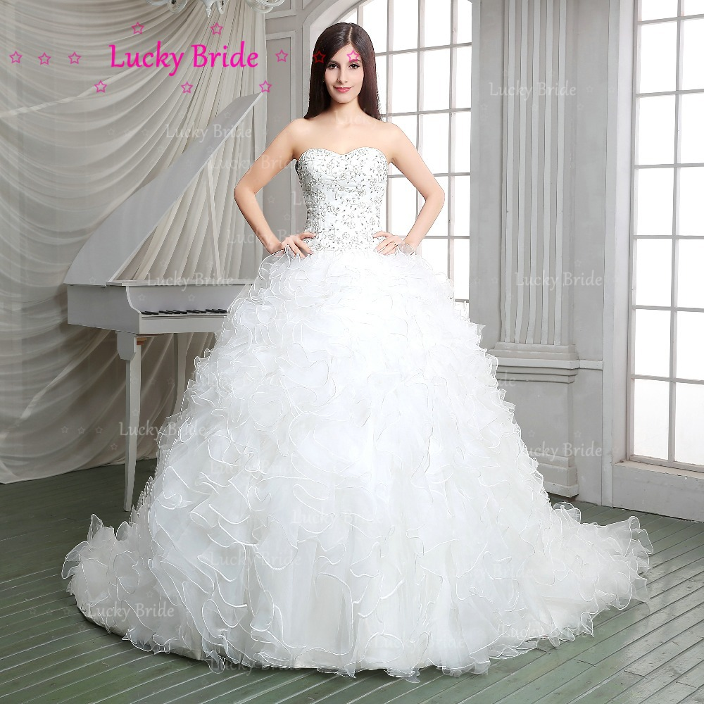 Elegant sweetheart ball gown embroidery lace up organza for Elegant beaded wedding dresses