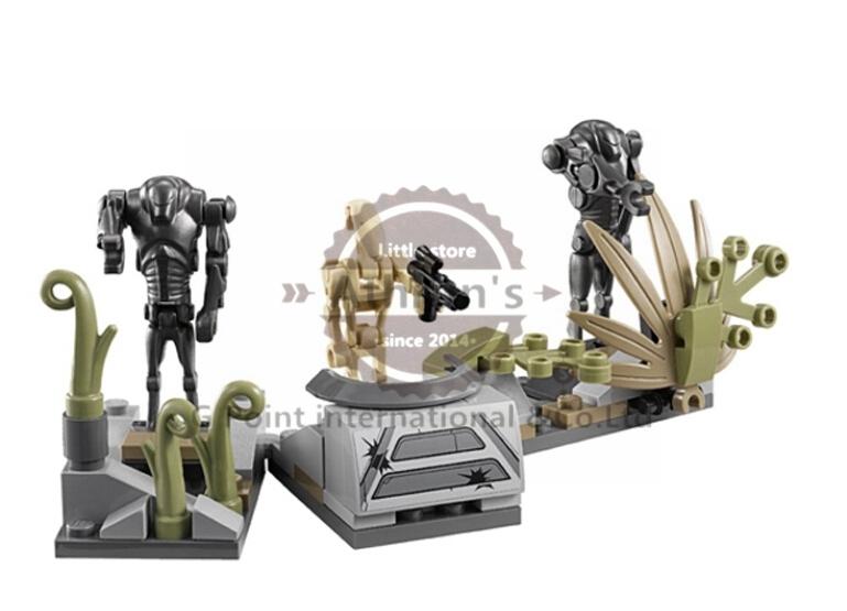 189pcs STAR WARS Battle on Saleucami BARC SPEEDER Clone War Super Battle Droids Minifigures Building SY311