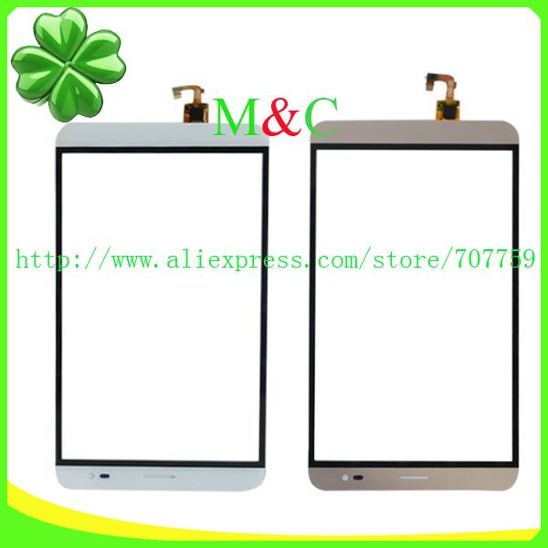 5pcs/lot Original Touch Screen Digitizer For Huawei MediaPad X1 Honor X1 7D-501U Touch Panel Glass White&Gold Free Shipping