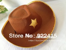 free shipping party supplies  five-star party cowboy  hat, 10 pcs/lot(China (Mainland))