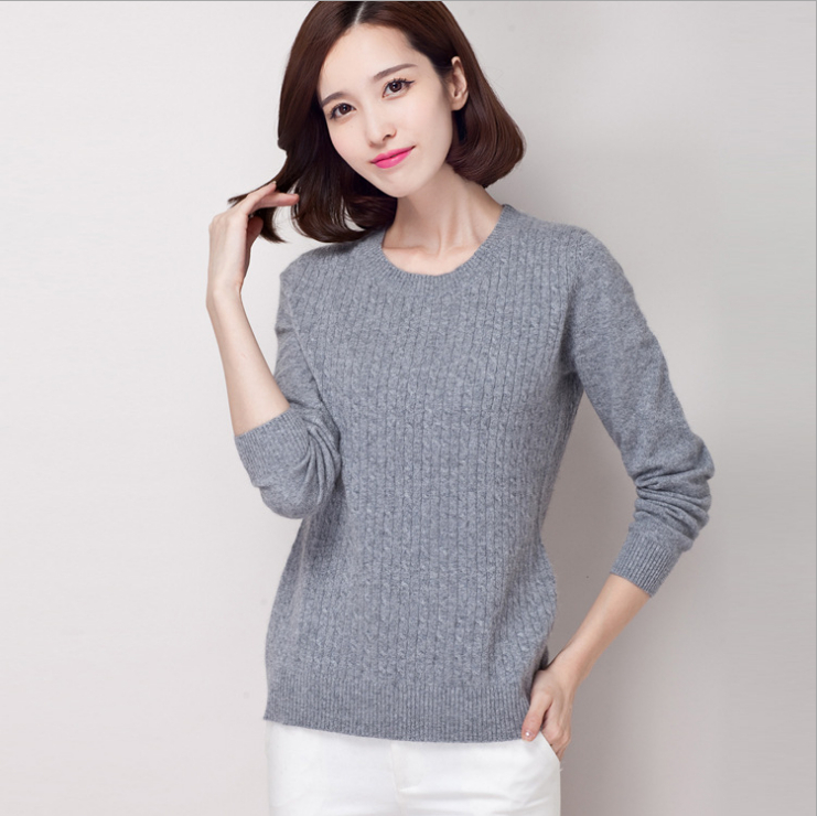 New genuine mink cashmere sweater women top cashmere twisted thickening Pullovers pure mink cashmere sweater  Y1121-190C