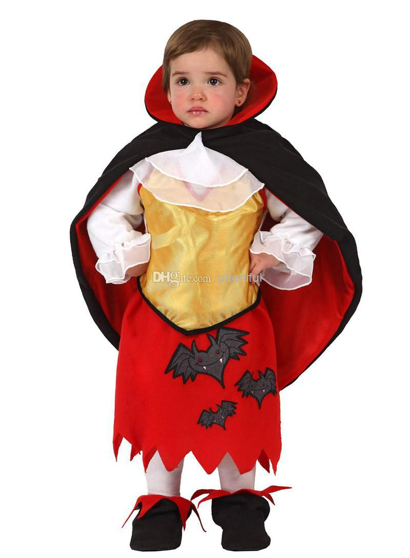 Wholesale - 2016 New Style Party Clothing Halloween Cosplay Costume For Infant Baby Girl Cloak Devil Costume Red Color(China (Mainland))