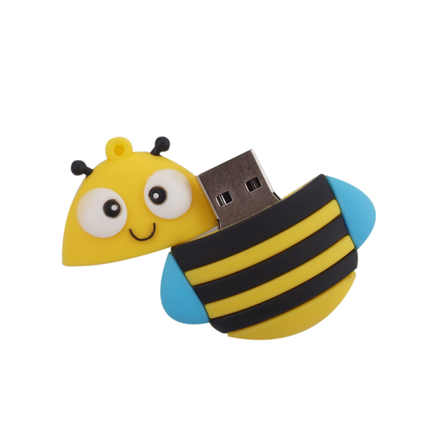 Cartoon fox bee penguin owl Pen Drive full capacity 4GB 8GB USB