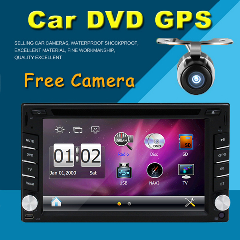 Universal Double Din Car DVD Player GPS Navigation HD Double 2-DIN Car Stereo DVD Player Support Bluetooth iPod MP3 with Map(China (Mainland))