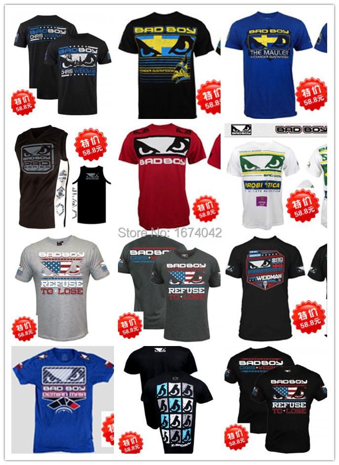 Mens Brand T-Shirts New Fashion MMA T-shirt Sport Fight Rashguard elastic T Shirt Alexander Gustafsson Boxing Blue T-shirt XXL(China (Mainland))