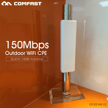 150Mbps wireless AP Wireless bridge Long Range CPE 2.4G WIFI Signal Booster&Amplifier Outdoor Coverage 2KM COMFAST CF-E214N-V2.0(China (Mainland))