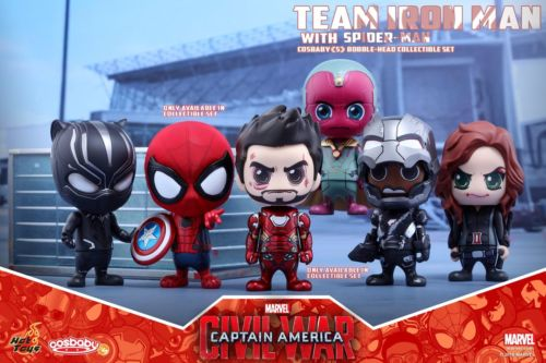 Hot Toys Captain America:Civil War COSB272 Team Iron Man With Spider-Man Cosbaby(China (Mainland))