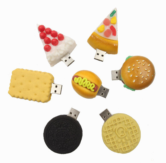 Funny food model USB 2.0 Full Memory Stick Flash pen Drive 4G 8G 16G 32G --Free shipping+drop shipping(China (Mainland))