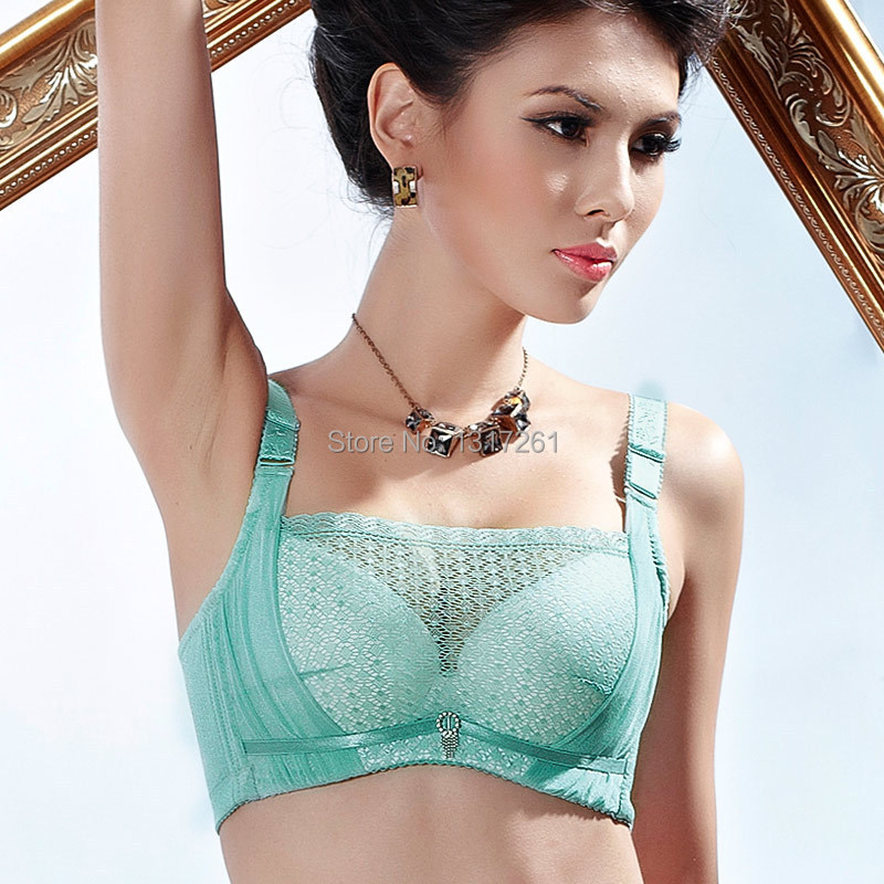 Black emerald skin pink colors women's sexy lingerie bra full coverage underwear underwired brassiere pushing up boost breast(China (Mainland))