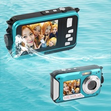 10 pcs 4 color 2.7inch Digital Camera Waterproof Max 24MP 5MP COMS 1080P Double Screen 16X Digital Zoom Brand New Dive 3M(China (Mainland))