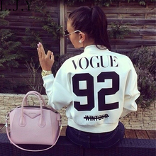 2016 women Vogue 92 printed jacket spring autumn outwear short coat casual bomber jackets chaquetas female sports clothing ZJ192
