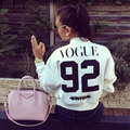 2016 women Vogue 92 printed jacket spring autumn outwear short coat casual bomber jackets chaquetas female