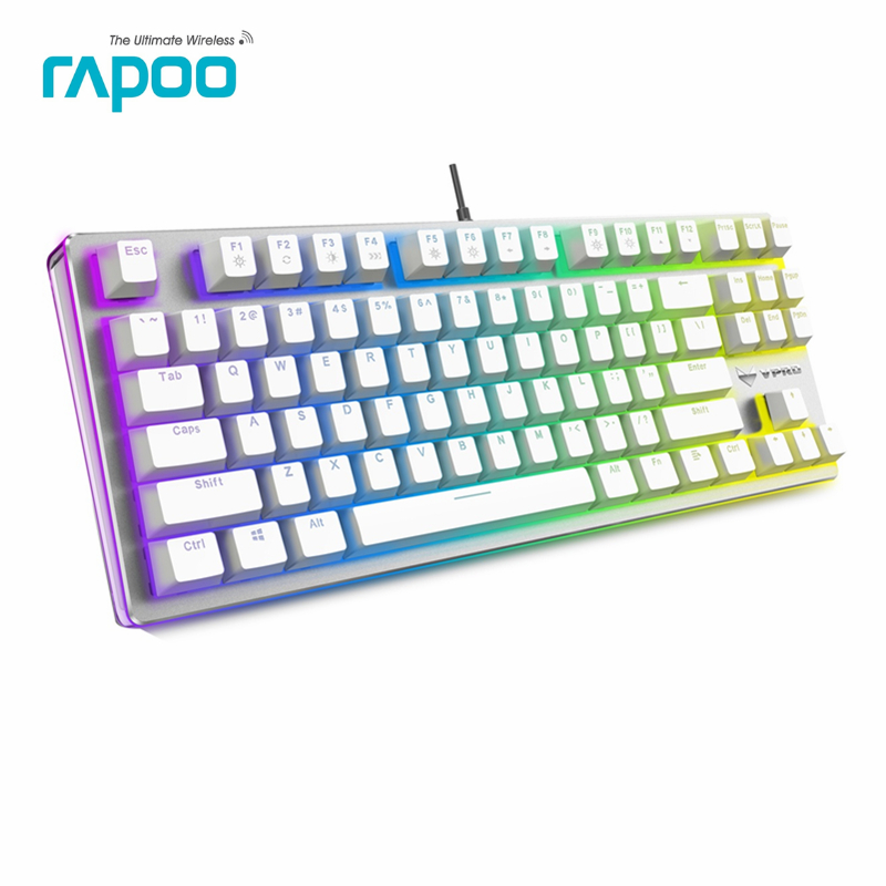 Original Rapoo V500 RGB Game keyboard Full Keys Programmable 2.0mm Trigger Stroke MX Pro Mechanical Gaming Keyboard
