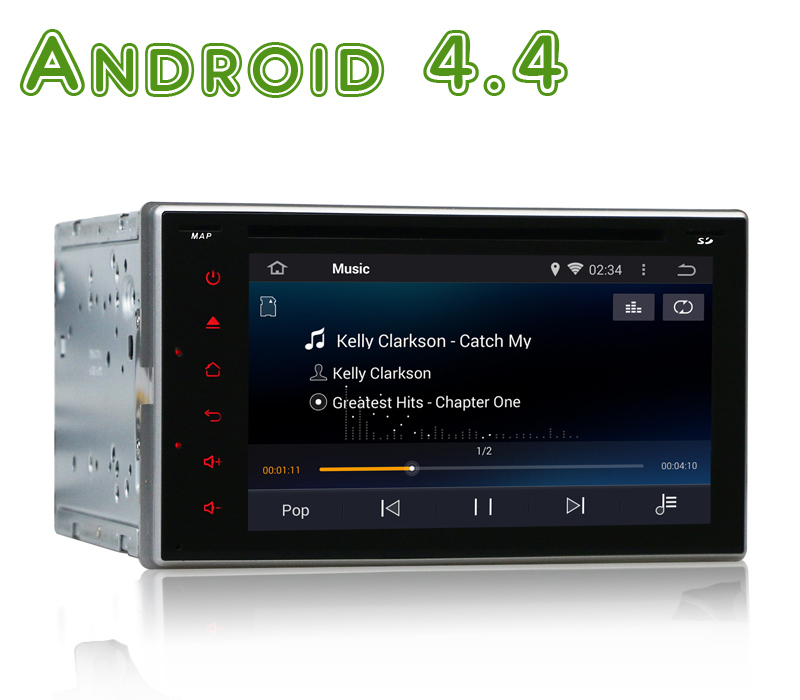 2 Din Android 4.4 Car DVD Automotivo GPS Navi GOLF 6 Polo Bora JETTA MK4 PASSAT B6 Tiguan SKODA OCTAVIA Fabia(China (Mainland))