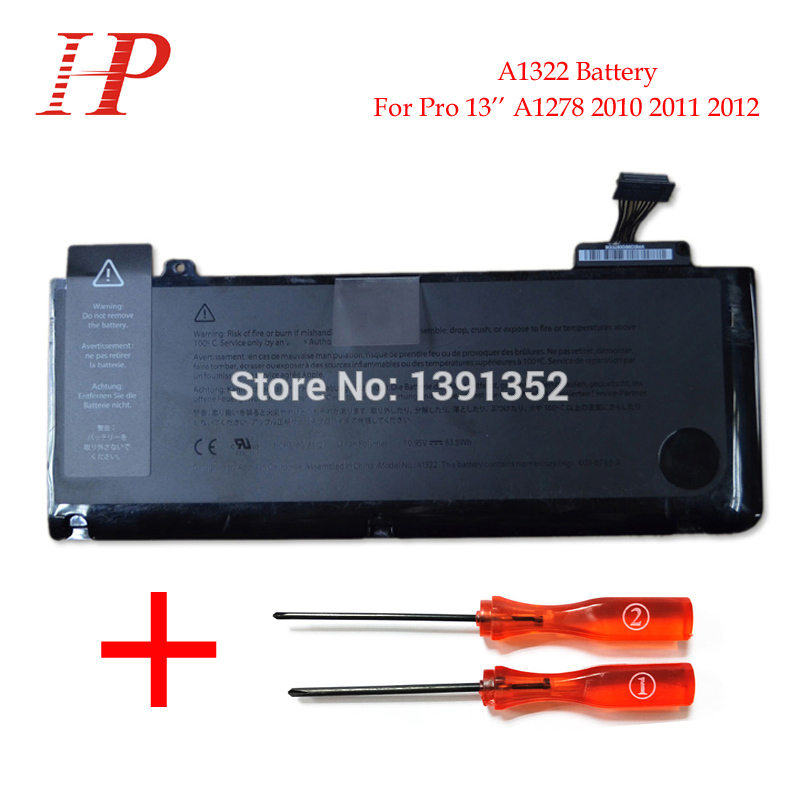 Original New Qaulity A1322 Rechargeable Battery For Macbook Pro 13 A1278 Battery 2010-2012 10.95V 63.5Wh With Screws Drivers<br><br>Aliexpress