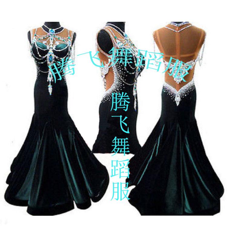 New Adult Modern Dance One-piece Dress Womens Ballroom Dance Dresses , Dancing Dress Training Waltz/Tango DressОдежда и ак�е��уары<br><br><br>Aliexpress
