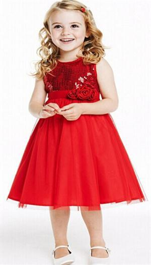 2015 hot sale fashion christmas dress brand clothes kids evening party