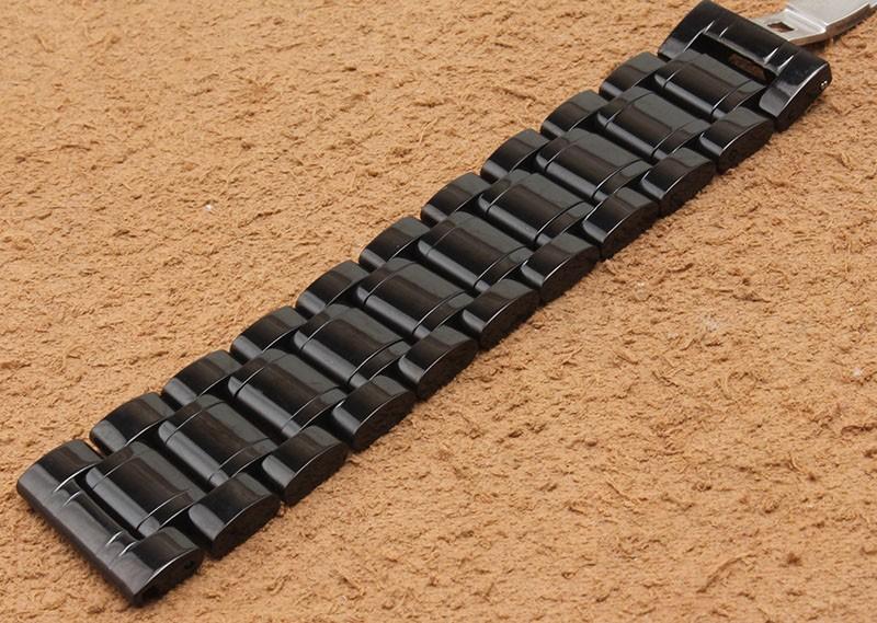 Высокое качество ремешок Черного металла, нержавеющей стали ремешки браслет полированный 18 мм 20 мм 22 мм 24 мм 26 мм 28 мм для мужских часов