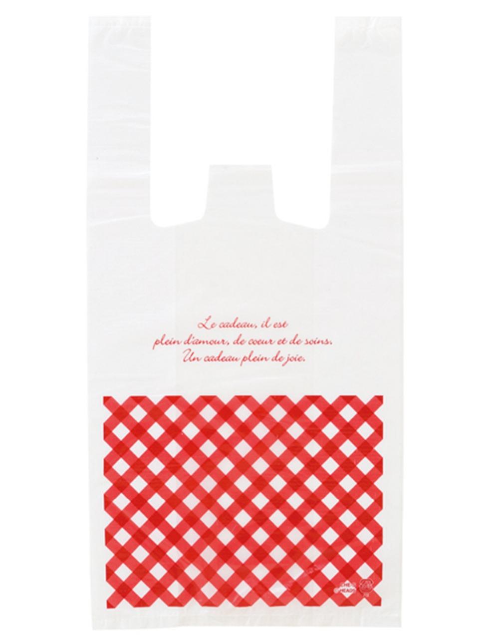 Free shipping size 18 35cm 7 14 red font b Burberry b font Shopping plastic Bag