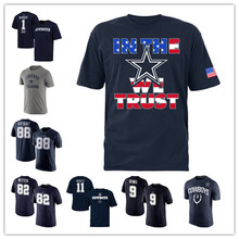 Men's Tony Dez Romo Bryant Jason Cole Witten Beasley Customs Name And Number Training T-Shirts!(China (Mainland))