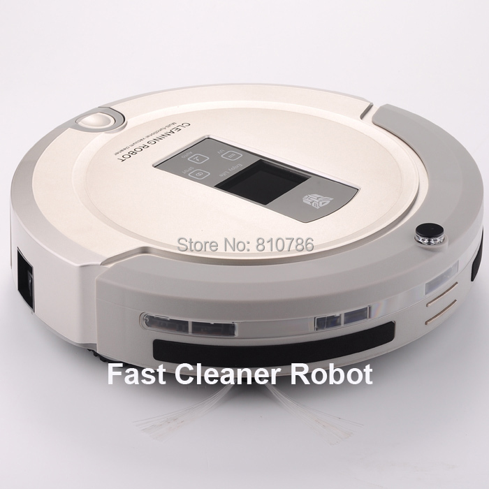 New Coming Shining Logo 4 IN 1 Robot Carpet Cleaner( Auto Recharged, LCD, Touch Button,UV lights, Remote)+Free Shipping(China (Mainland))