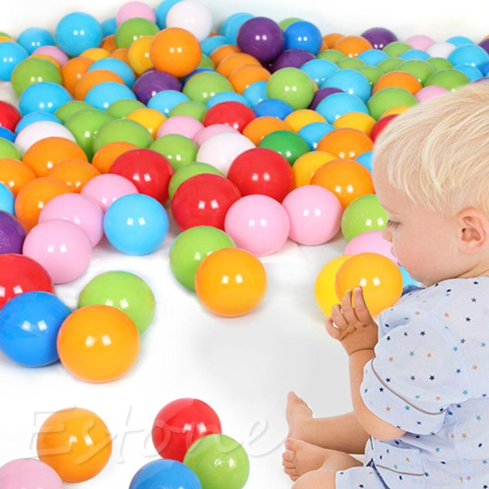 50Pcs 7cm Colorful Ball Fun Ball Soft Plastic Ocean Ball Baby Kid Toy Swim Toy