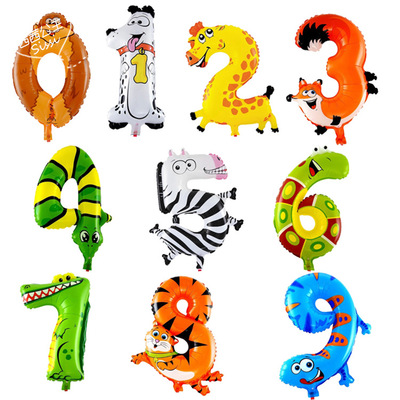 Lucky 1pcs 16inch Animal Shaped 0-9 Balloon Number Foil Air Baloons Aluminum Balloon Gift Party Supplies Decorations Globos Toys(China (Mainland))