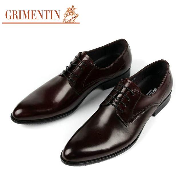 GRIMENTIN Итальянской Моды классические мужские туфли коричневый черный повседневная ...
