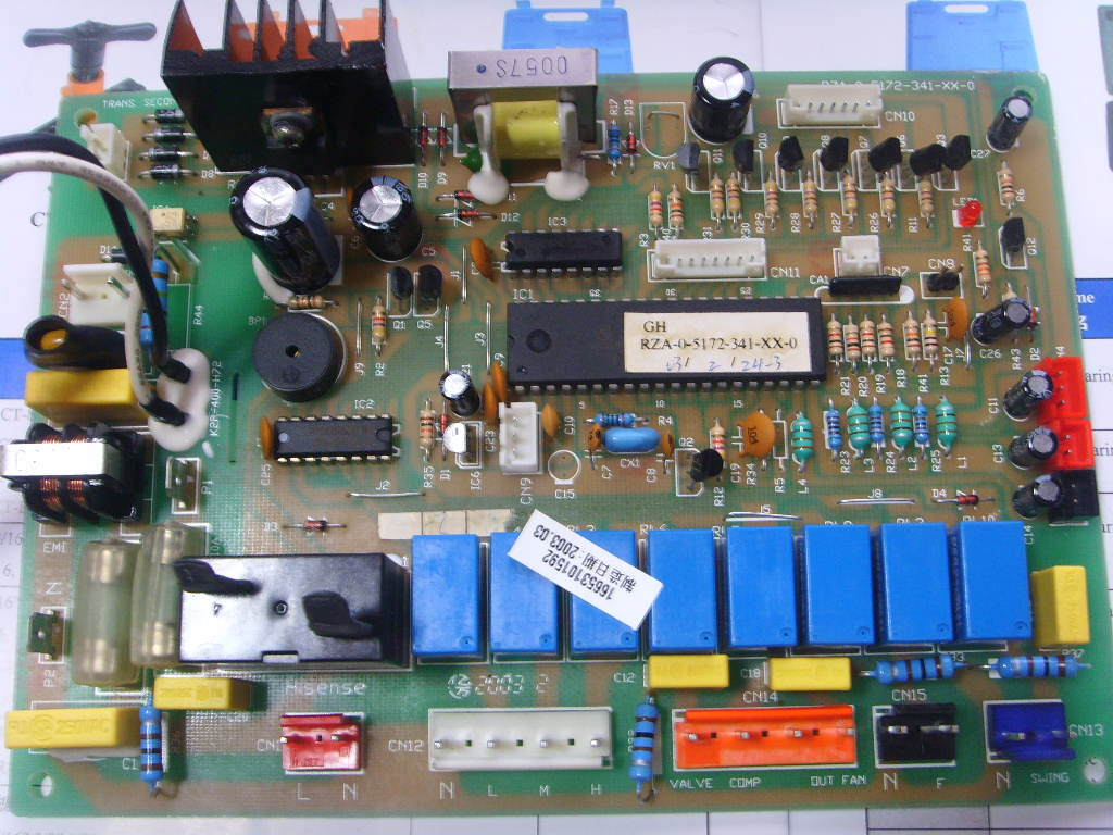 Internal cabinet air board RZA-0-5172-341-XX-0 RZA-0-5172-341-XX-0 Used disassemble